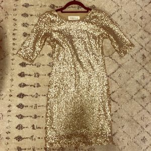 Abercrombie & Fitch Gold Sequin Bodycon Dress